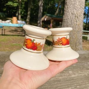 Pair of Fall Candlestick Holders